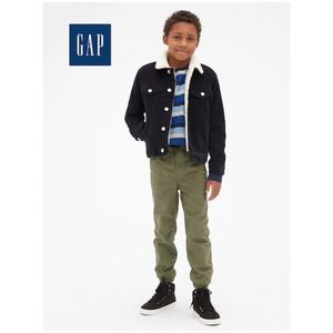 GAP KIDS Pull-On Canvas Joggers Pants in Green